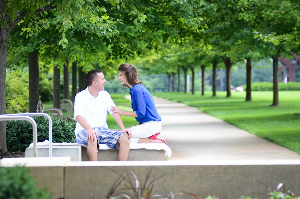 Indianapolis Museum of Art Engagement Photos
